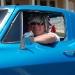 Man in Antique Car