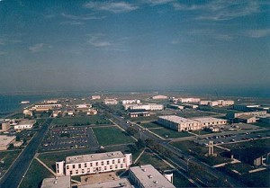 Aerial view of Cape May's USCG Training Center. Click for larger.