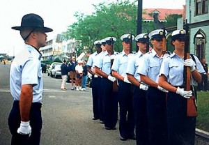 Coast Guard units participate in all community parades and events.