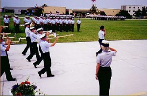 The training center features the Coast Guard's only military band in the nation.