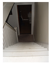 Stairs up to the attic offices