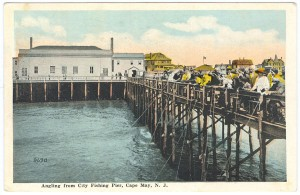 Angling from the pier. Postcard courtesy Robert W. Elwell, Sr.