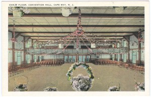 Postcard with Convention Hall's dance floor. Courtesy Robert W. Elwell, Sr.