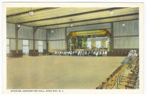 Interior of the new Convention Hall. Postcard courtesy Robert W. Elwell, Sr.