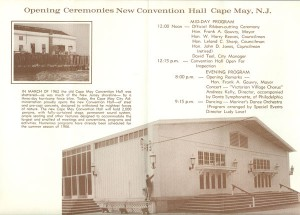 Opening ceremonies for the new Convention Hall, 1966.