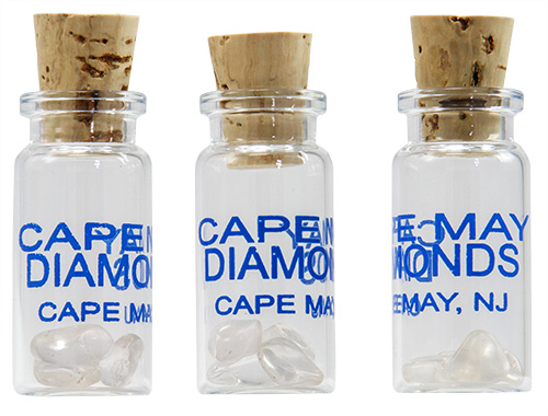Glass jars of Cape May diamonds
