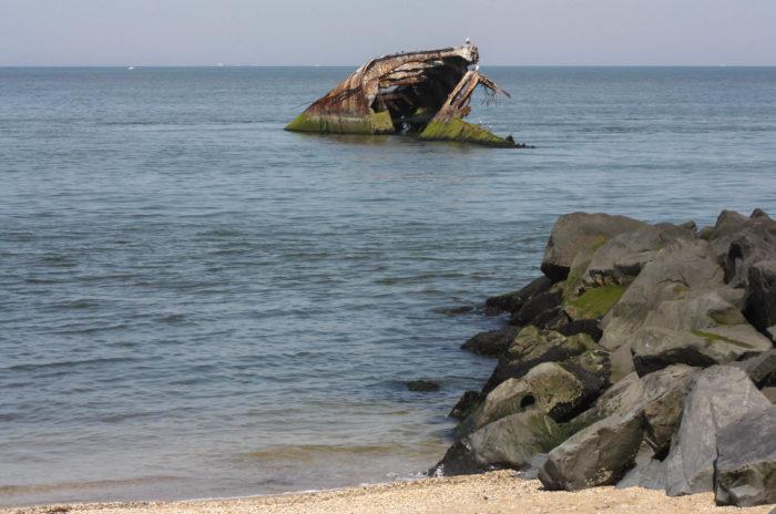 Sunset Beach, SS Atlantus, Concrete Ship