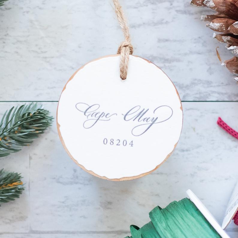 GirlHoldingAPen ornament