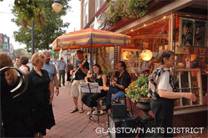 Glasstown Arts District in Cumberland County, NJ