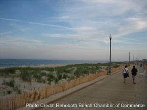 The beach in Rehoboth Beach, DE