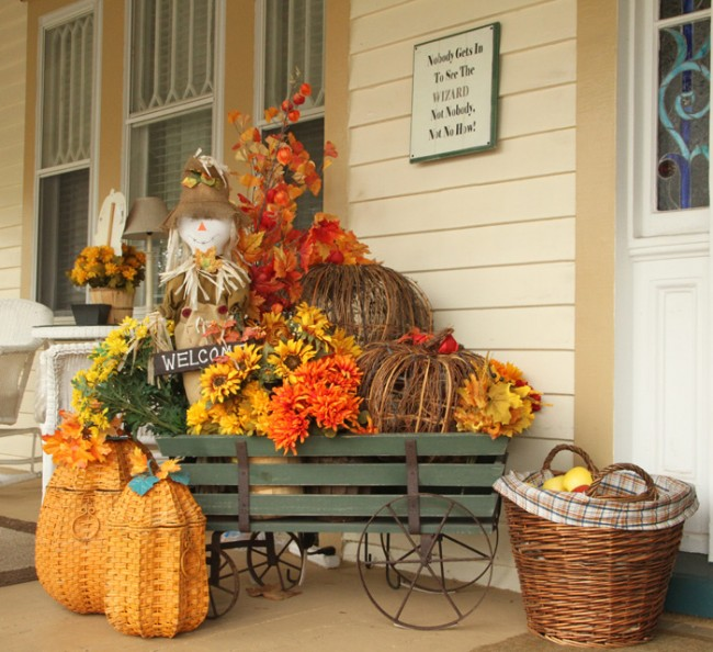 How's your porch decorated for Fall?
