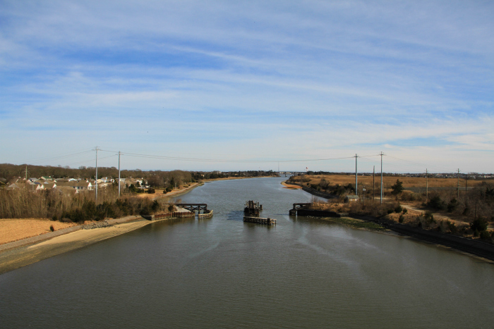 Looking from the West Cape May bridge