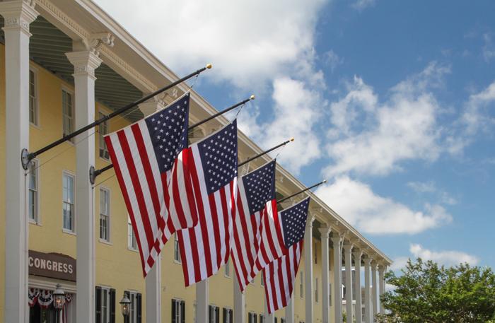 Flags at Congress Hall
