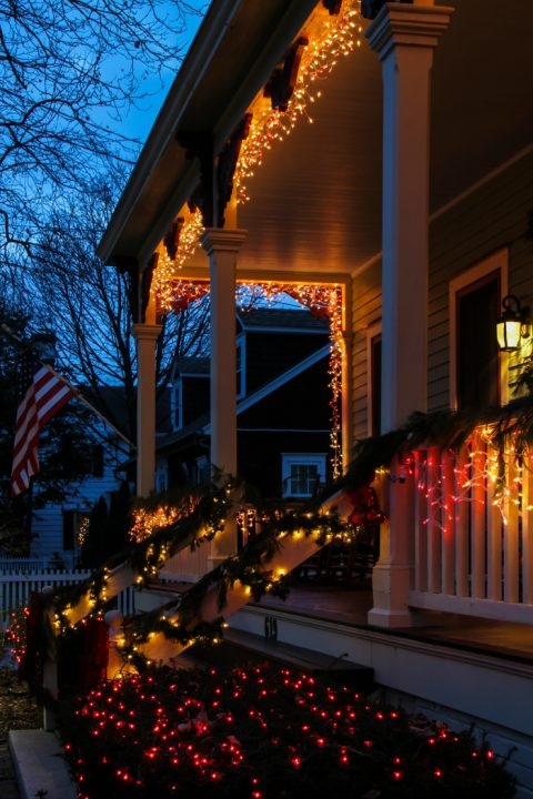 Lights on Hughes Street