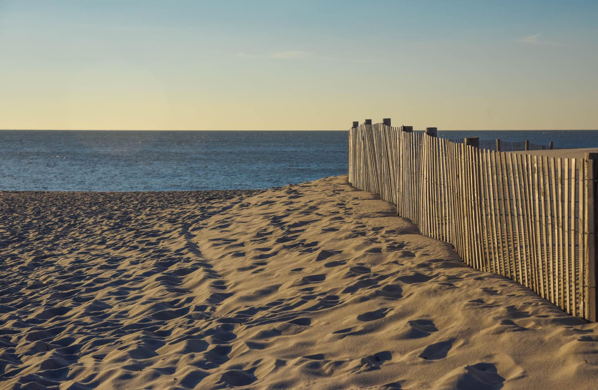 sunrise next to the dunes