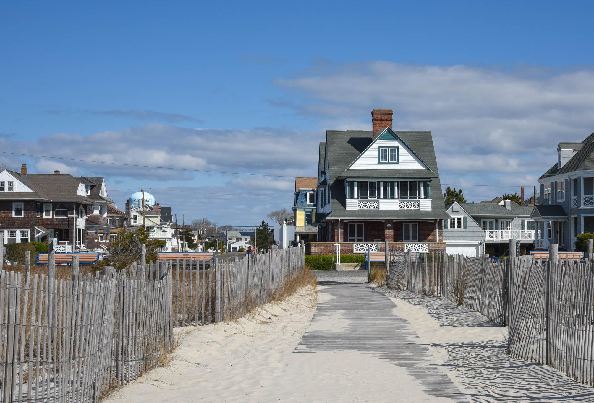 Looking at the beach walking path