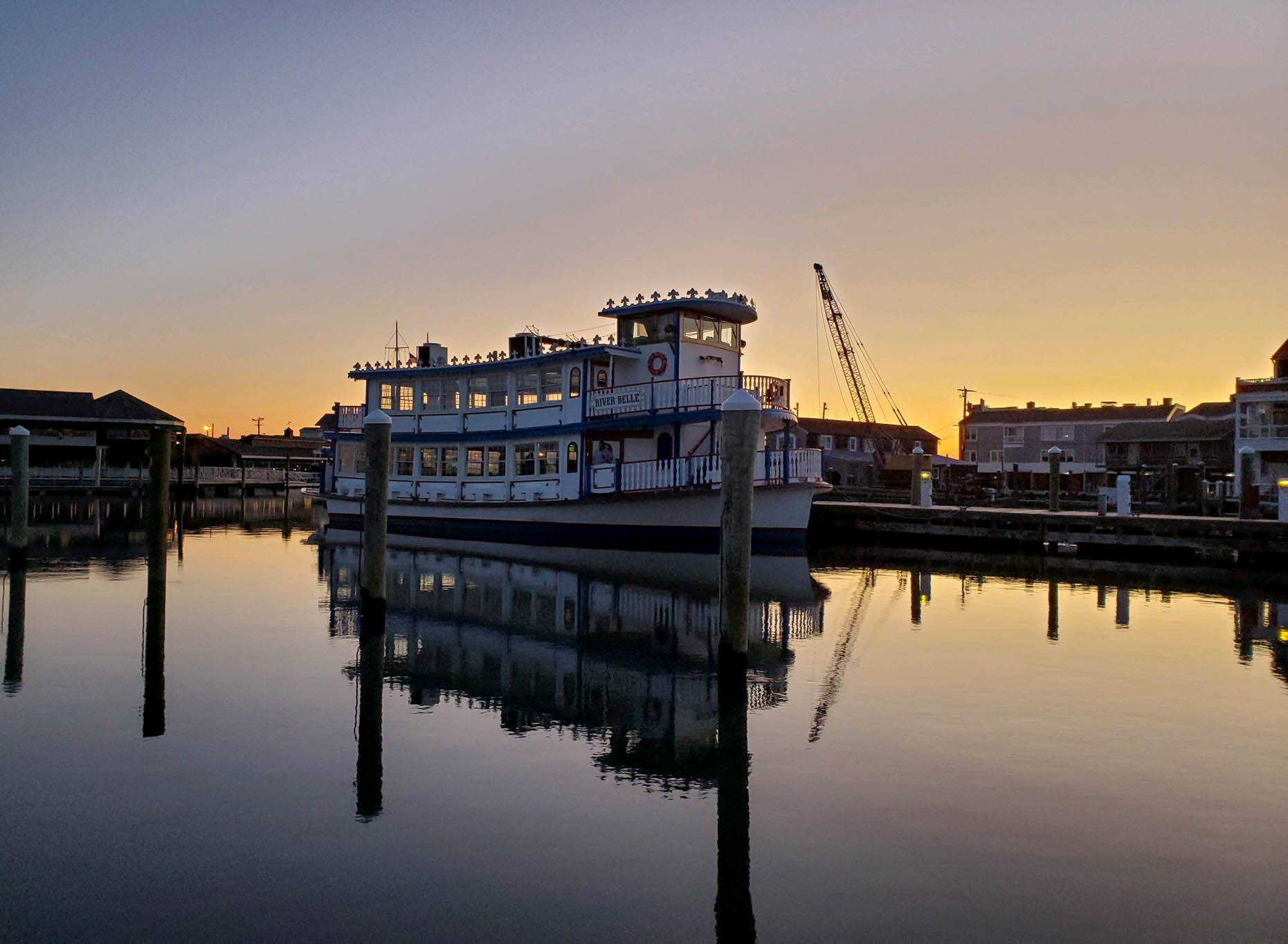 River Belle at the marina