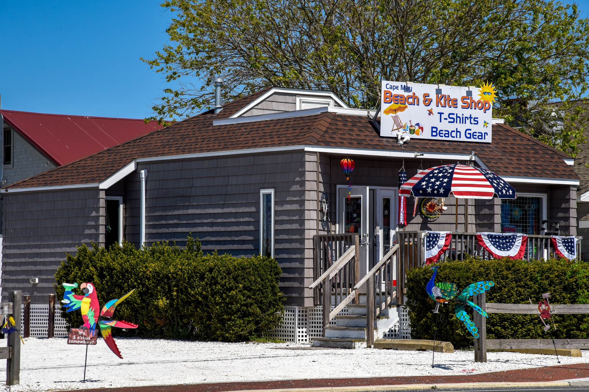 A store for  Finding Beach Gear just past the Lobster House come over the bridge.