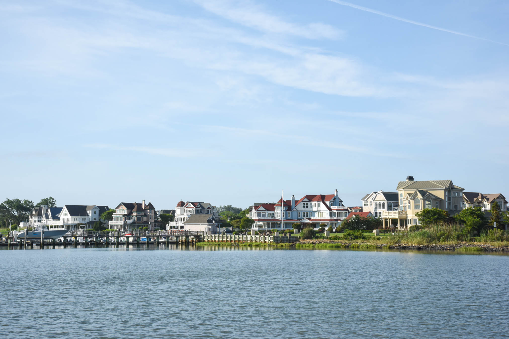 Homes Along The Harbor