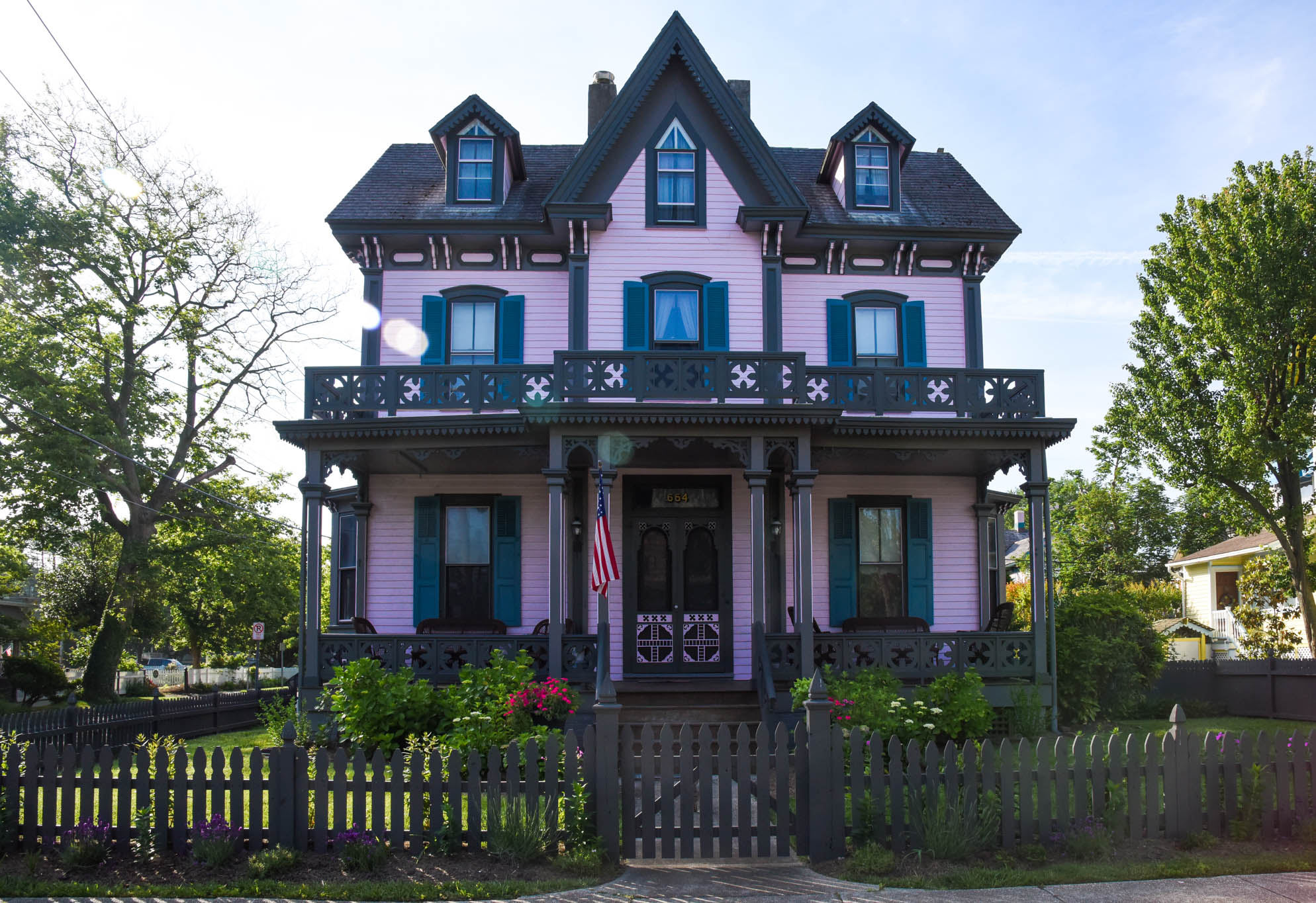 A Victorian house on the corner of Franklin and Hughes.
