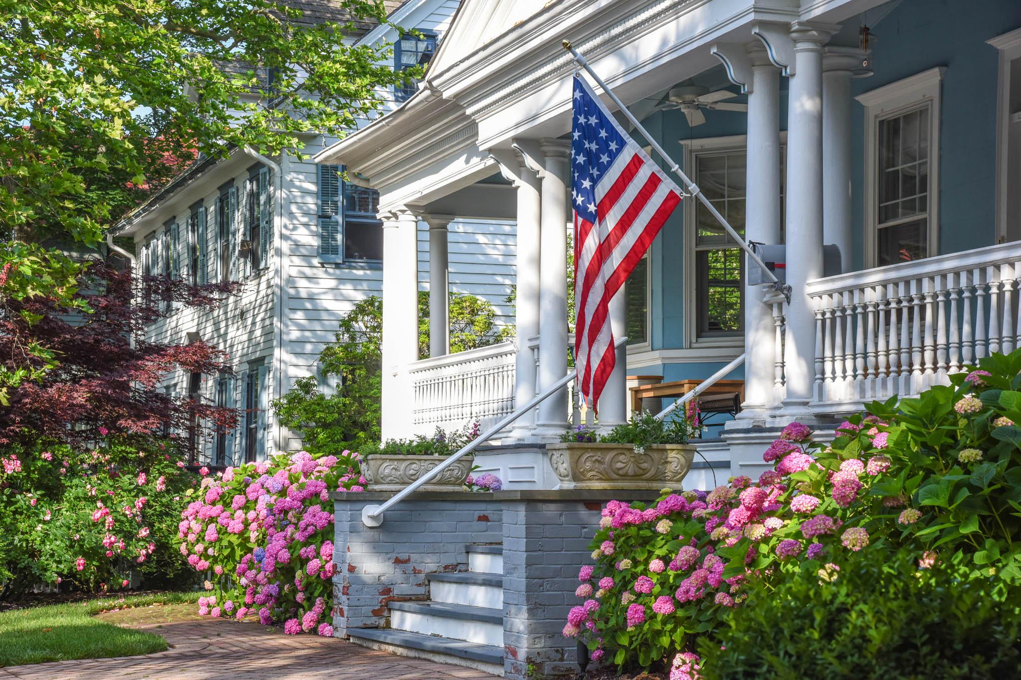 Patriotic Porch on hughes Street