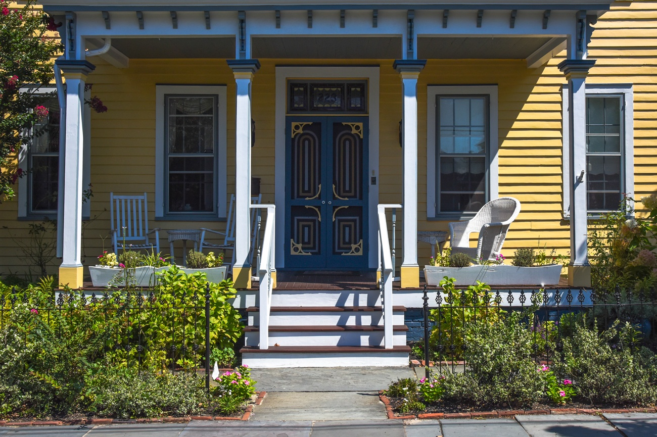 The front porch of The Bayberry House