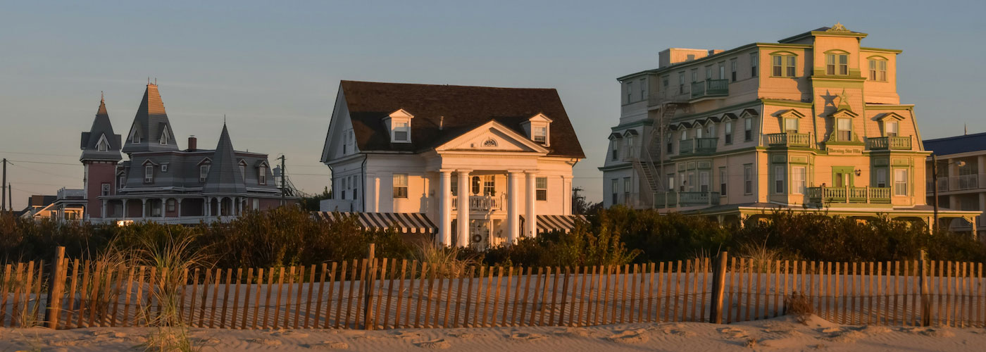 Beachfront accommodations in Cape May