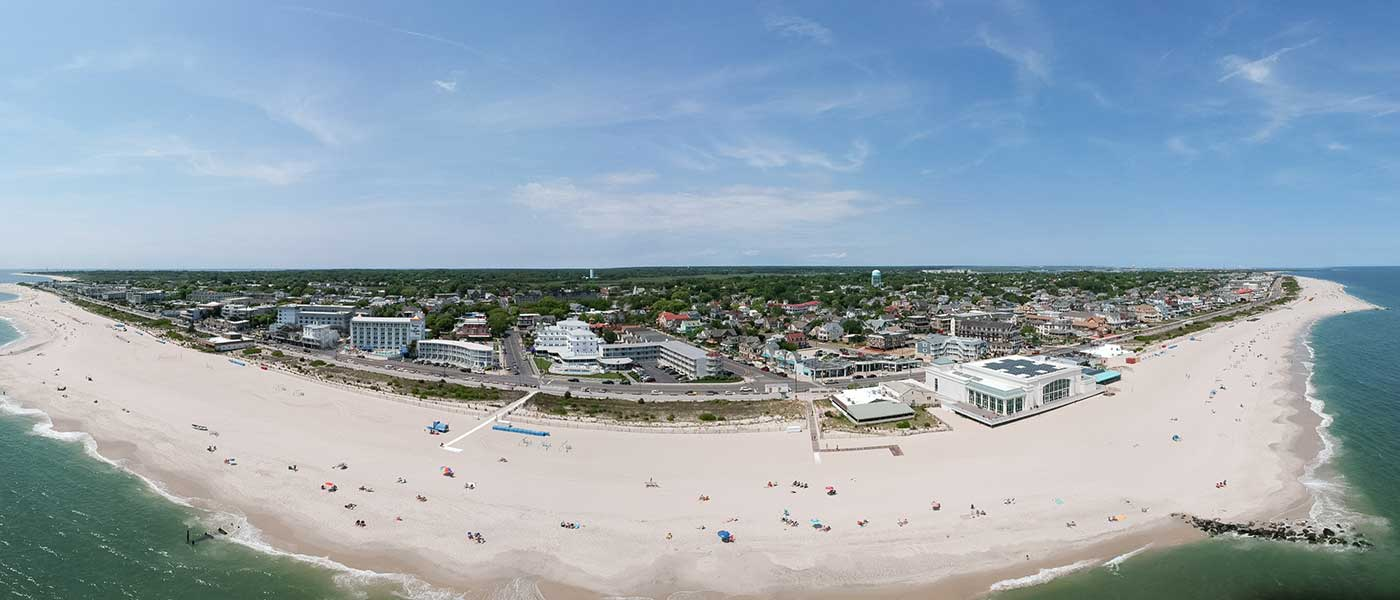 Aerial view of Cape May taken by drone