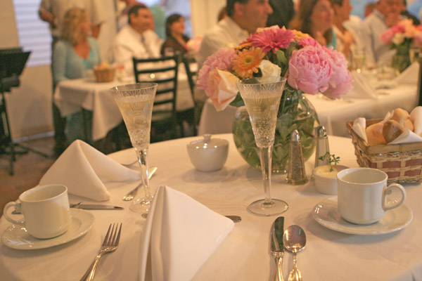 Carriage house cafe wedding