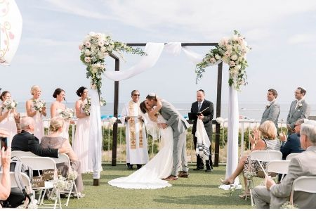 Wedding outside of the Grand Hotel of Cape May