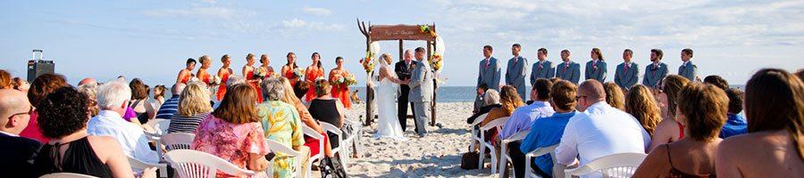 Cape May beach wedding ceremony